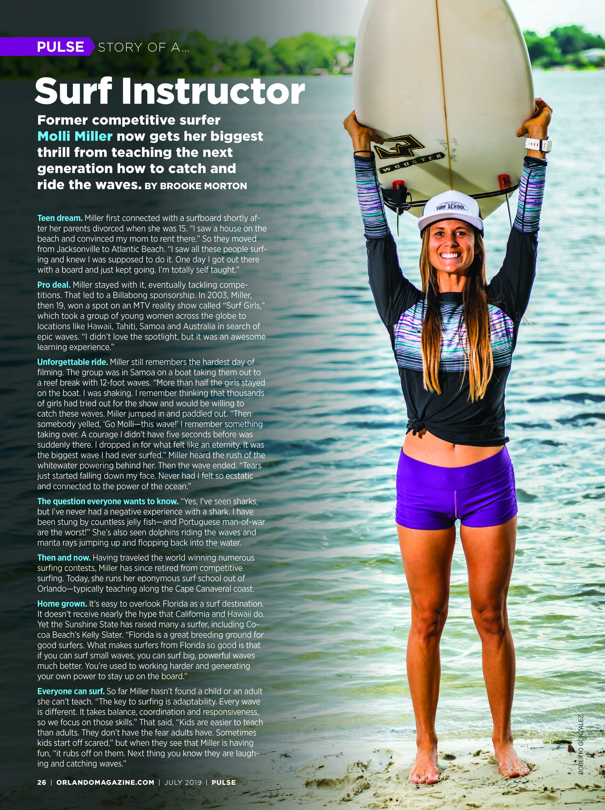 Molli Miller Surf Instructor Orlando Weekly